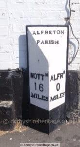 Alfreton milepost