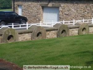 pulp millstones wall Ashover