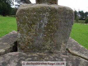 King Sterndale market cross inscription