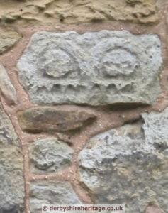 Ault Hucknall church carved stone