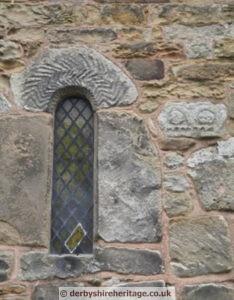 Ault Hucknall small church window