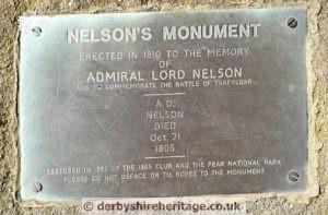 Nelson's Monument plaque