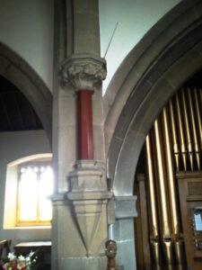 Dukes red marble pillar