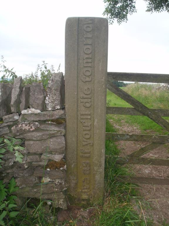 farm gatepost