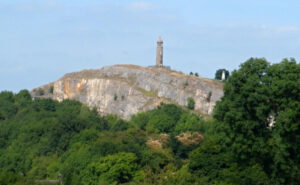 Crich stand above the quarry